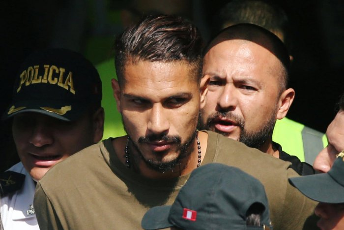 Peruvian captain Paolo Guerrero arrives in Lima on Tuesday. Reuters
