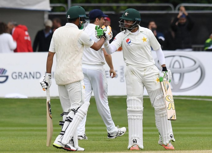 Debutant Imam-ul-Haq (right) played a crucial knock in Pakistan's five-wicket win against Ireland. Reuters