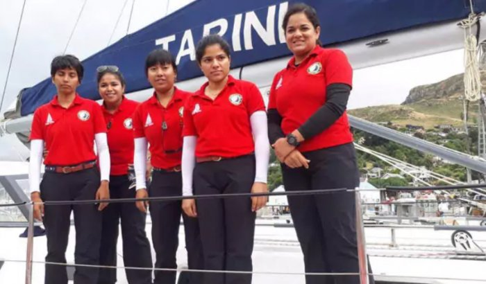The navy's all-women team will return on May 21 after eight months on the high seas.