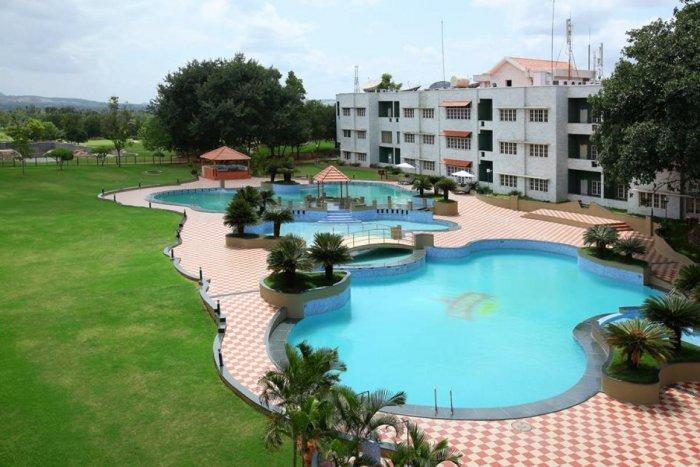 Eagleton resort near Bidadi is about an hour's drive from the Vidhana Soudha.
