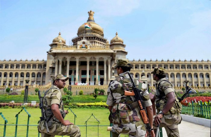 The Vidhana Soudha, the Vikas Soudha and the multi-storey building were closed for public entry on Saturday.