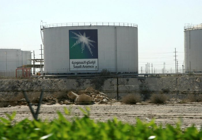 Oil tanks seen at the Saudi Aramco headquarters during a media tour at Damam, Saudi Arabia. REUTERS