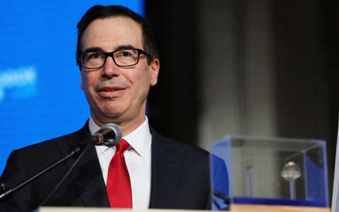 US Treasury Secretary Steven Mnuchin. Reuters photo