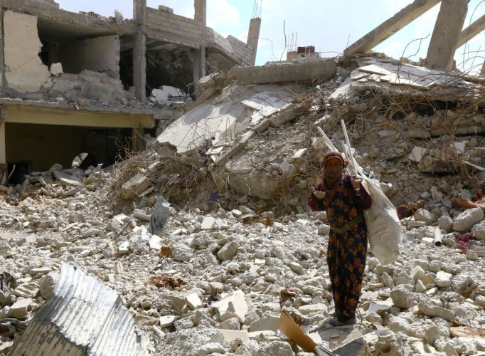 The State Department has ended all funding for stabilisation programmes in Syria's northwest. Islamic State militants have been almost entirely eliminated from the region. (Reuters)