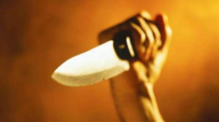 The man stabbed his wife to death as he suspected she was having an affair.