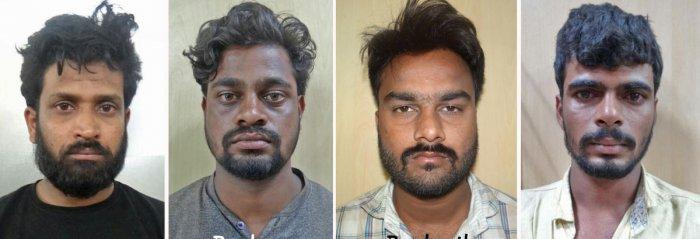 The four suspects Santhosh Kumar, Pradeep, Prashanth S and Suresh S.