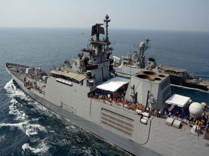 Two Indian warships INS Sahyadri and INS Kamorta along with fleet tanker INS Shakti will make a port call at Tien Sa Port, Danang between May 21 and 25. PTI file photo