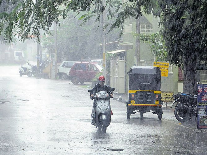 According to India Meteorological Department, the rains would continue for two more days. DH file photo