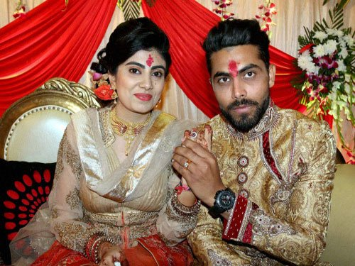 Cricketer Ravindra Jadeja's wife Reevaba was reportedly attacked by a policeman in Jamnagar following their vehicles' collision on Monday. PTI file photo