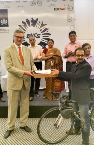 Sathya Sankaran was announced as the city's Bicycle Mayor on Monday by ByCS (formerly Cycle Space), an Amsterdam-based NGO.