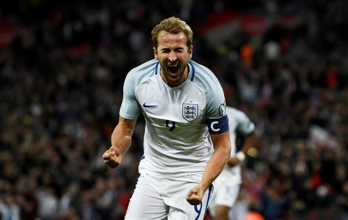 Harry Kane will lead England in the World Cup. REUTERS