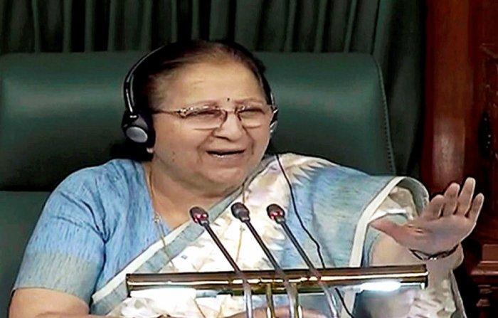 Lok Sabha Speaker Sumitra Mahajan on Tuesday accepted the resignations of BJP MPs B S Yeddyurappa and B Sriramulu following their election to the Karnataka Legislative Assembly, Lok Sabha Secretariat sources said. PTI file photo