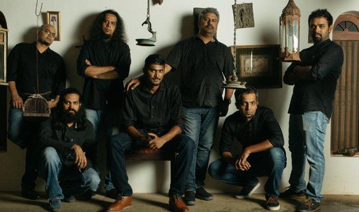 (From left, standing) Swamy, Harish, Siva and Jagadis. (Sitting) Praveen, Yadhunandan and Aditya.