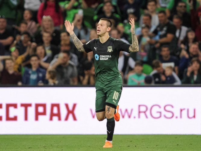 SEEN IT ALL: Striker Fyodor Smolov, who has undergone a dramatic career turnaround from a laughing stock to a national icon, will be looking to guide Russia at this World Cup. REUTERS