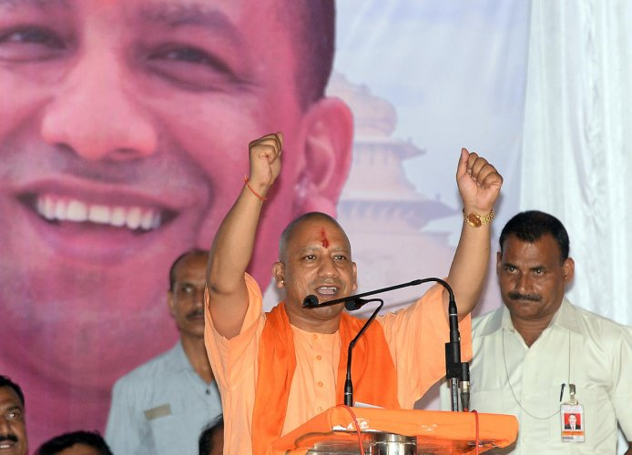 Uttar Pradesh Chief Minister Yogi Adityanath said his predecessor Akhilesh Yadav's hands were stained with the blood of victims of the Muzaffarnagar riots. DH file photo