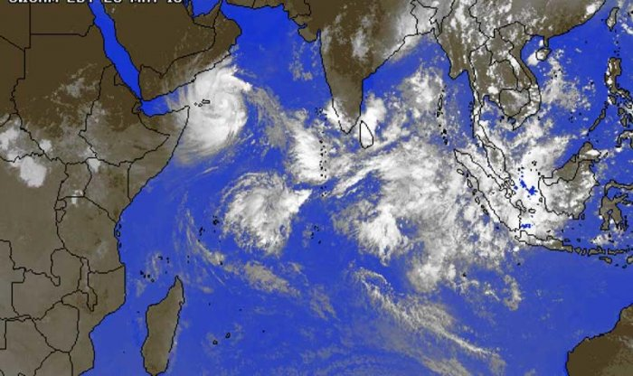 """Forecasters at India's Meteorological Department said today that Cyclone Mekunu will intensify into what they described as a """"very severe cyclonic storm."""" (Image courtesy: www.accuweather.com)"""