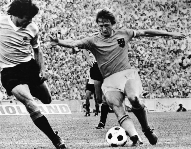 THE MAGICIAN Johan Cruyff (right) put in spellbinding performances but they were still not enough as the Netherlands lost to West Germany in the final.