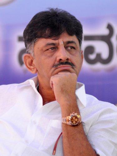 Congress leader D K Shivakumar.- Photo by Savitha B Rdks