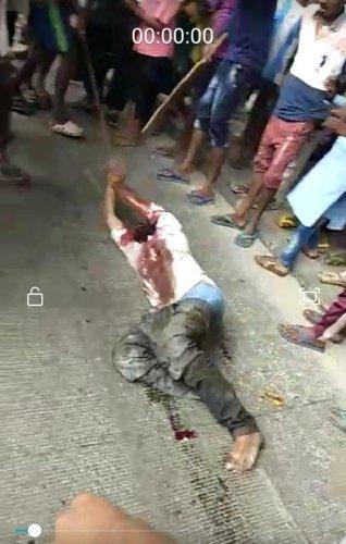 A video grab of the lynching.