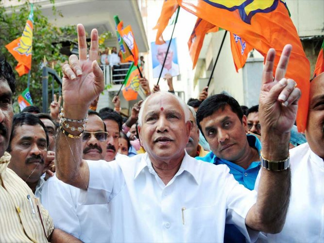 The BJP, which emerged as the single largest party in the May 12 Assembly elections by securing 104 seats, fell seven short to form the government. DH file photo