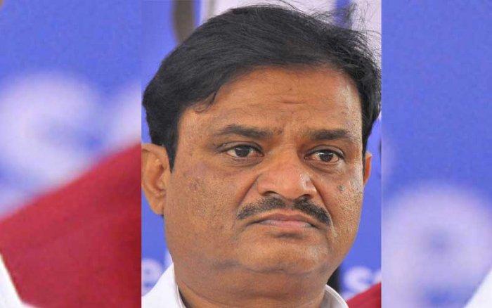 Congress candidate and former RR Nagar MLA Munirathna. DH file photo