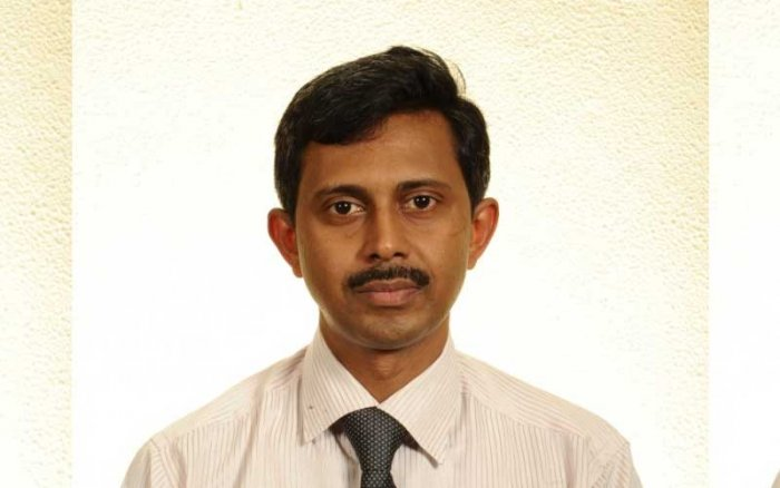 Dr Kumar, HoD, Virology, identified the rare virus in the samples of the patient who died of viral encephalitis in Kozhikode, Kerala. Image: manipal.edu
