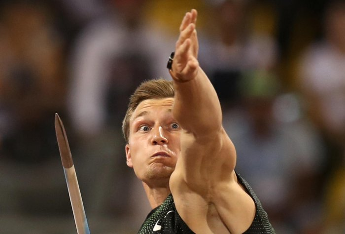 Germany's Thomas Rohler won the javelin throw at the Eugene Diamond League meet. File photo