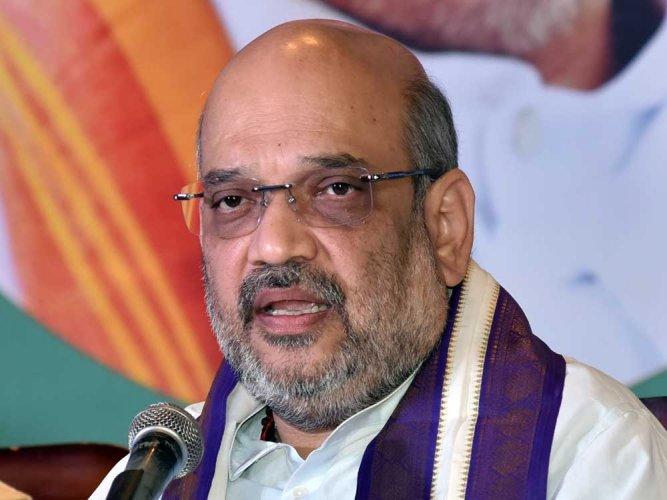 BJP chief Amit Shah. DH Photo.