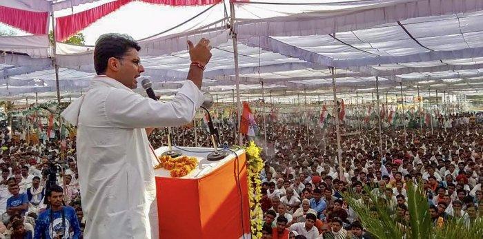 Rajasthan Congress Chief Sachin Pilot. PTI file photo