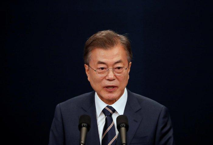South Korean President Moon Jae-in. Reuters Photo