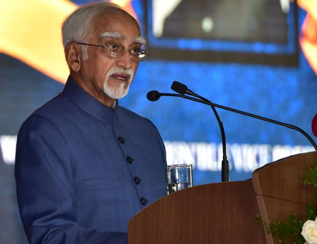 In picture: former vice president Hamid Ansari. DH file photo.