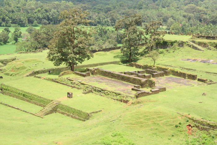 Remains of Nagar Fort at Bidnore, Shivamogga district.