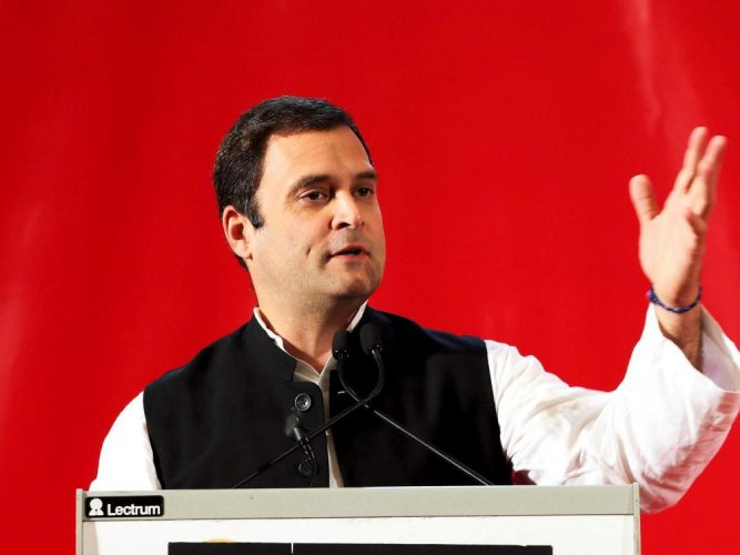 In picture: Congress president Rahul Gandhi. PTI file photo.
