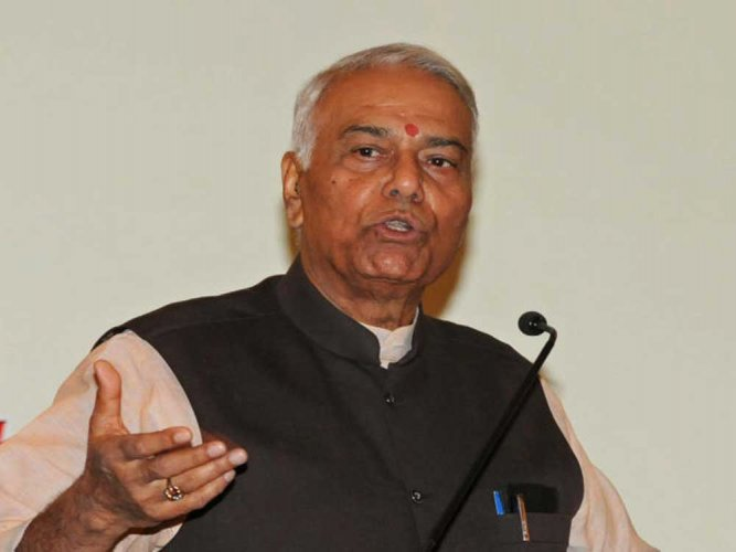 In picture:Senior politician and former union minister Yashwant Sinha. File photo.