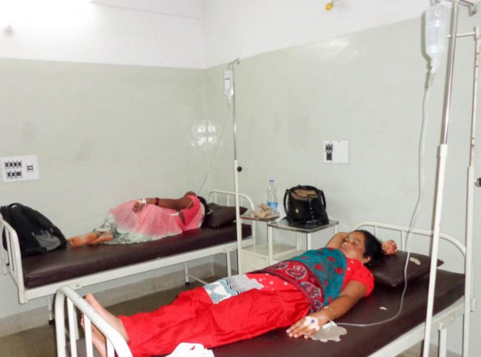 Nearly 100 garment workers fell ill and were admitted to various hospitals in Anekal on May 28, 2018.