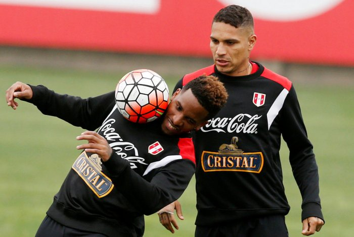 MAIN MAN In the absence of skipper Paolo Guerrero(left), Peru will look to winger Jefferson Farfan for inspiration. Reuters
