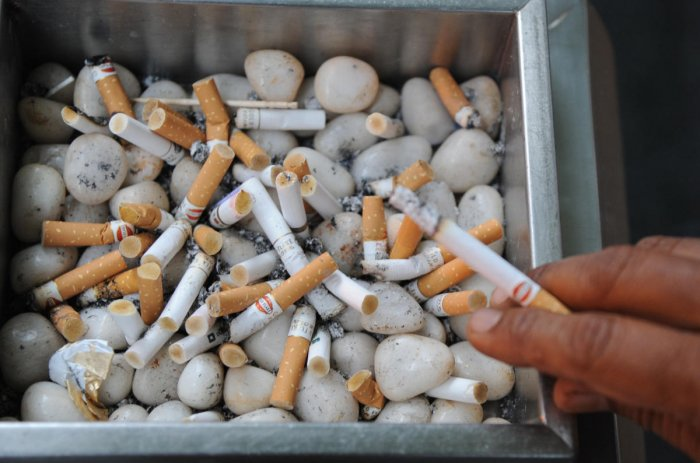 Nearly 53% of the smokers are unsuccessful in their attempts to quit, according to data from the Foundation for a Smoke-Free World. DH PHOTO/B H SHIVAKUMAR