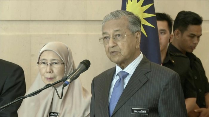 Malaysia's new Prime Minister Mahathir Mohamad. Reuters.