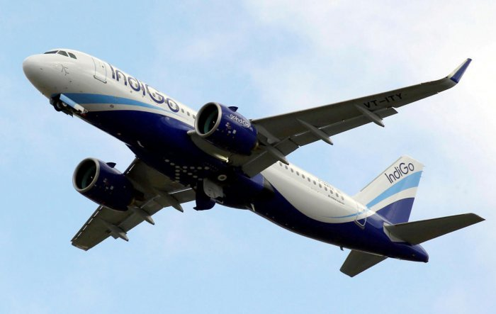 FILE PHOTO: An IndiGo Airlines Airbus A320 aircraft takes off in Colomiers near Toulouse, France, October 19, 2017. REUTERS/Regis Duvignau/File Photo