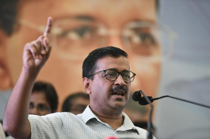 Delhi Cheif Minister Arvind Kejriwal speaks during an event. PTI Photo