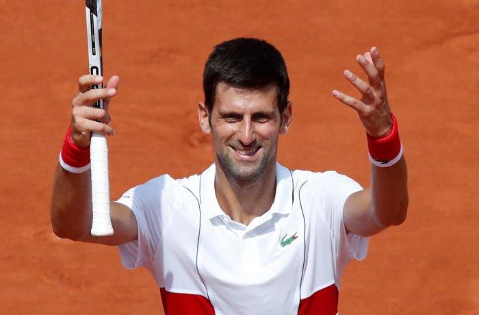 FIGHTER: Serbia's Novak Djokovic celebrates winning his second round match against Spain's Jaume Munar. Reuters