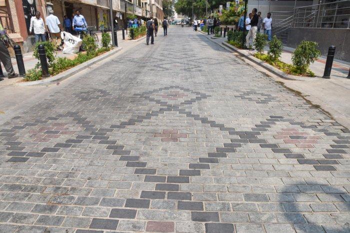 Revamped Church Street in Bengaluru. DH Photo/S K Dinesh