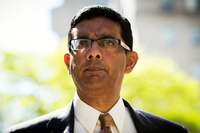 Trump pardoned D'Souza, who was sentenced to five years of probation in 2014 for violating federal campaign laws. (Reuters file photo)