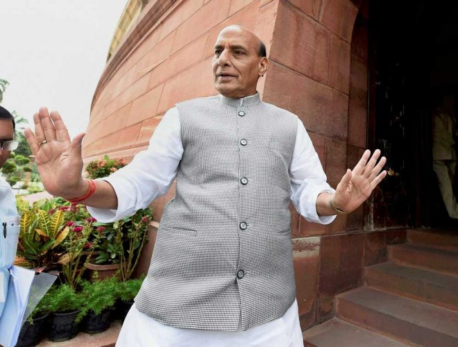 In picture: Home Minister Rajnath Singh. PTI photo.