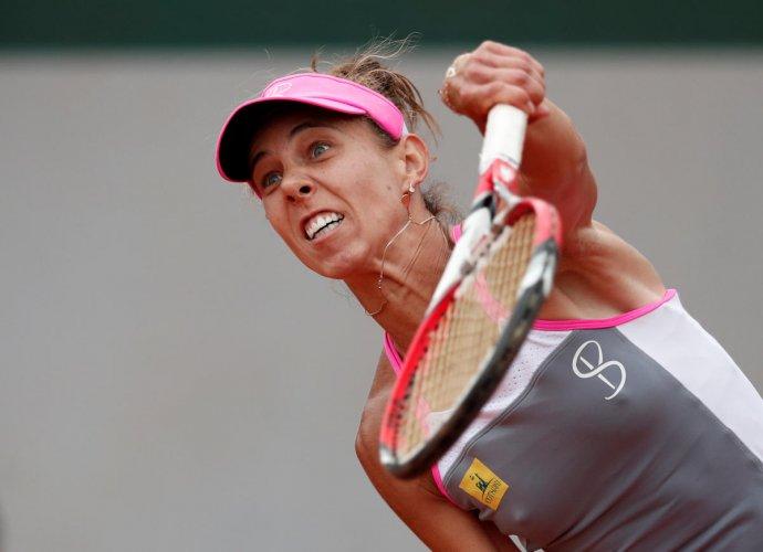 Romania's Mihaela Buzarnescu registered the biggest win of her career when she beat Ukraine's Elina Svitolina. REUTERS