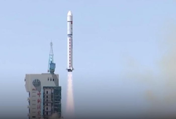 It was the 276th mission of the Long March rocket series, state-run Xinhua news agency reported. Screen grab.