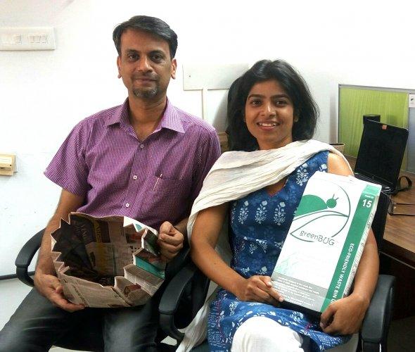 Arun Balachandran and Jyoti Pahadsingh, founders of greenBUG