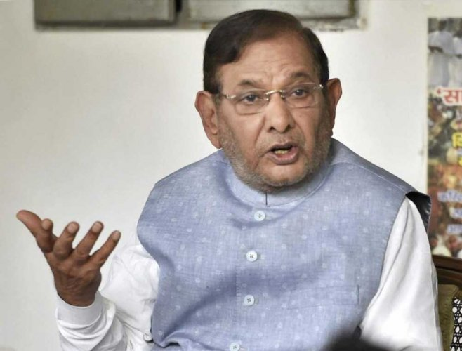 Sharad Yadav's supporters are trying to bring the Congress, the largest opposition party in the state, on board to put up a united fight against the saffron outfit which is in power in Madhya Pradesh since 2003. PTI file photo