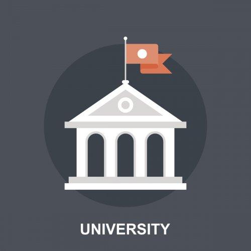 Vector illustration of university flat design concept.