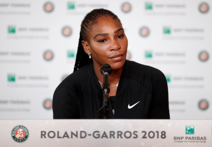 Serena Williams pulled out of Roland Garros on Monday after injuring her pectoral muscle. Reuters